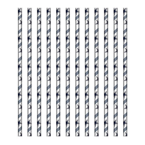 Dallas Cowboys Paper Straws (24ct)