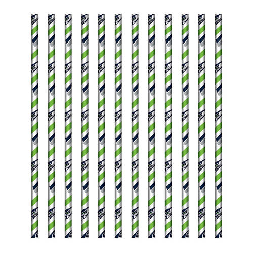 Seattle Seahawks Paper Straws (24ct)