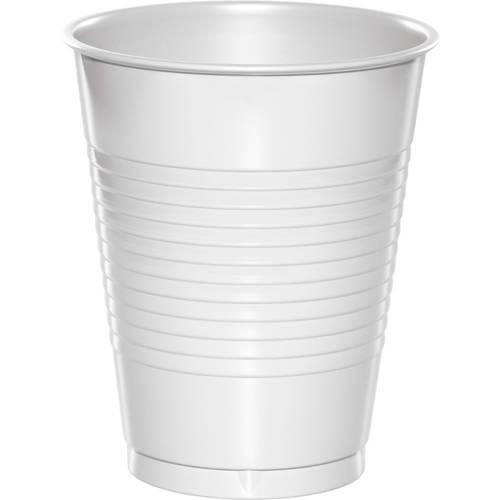 White 16oz Plastic Cups