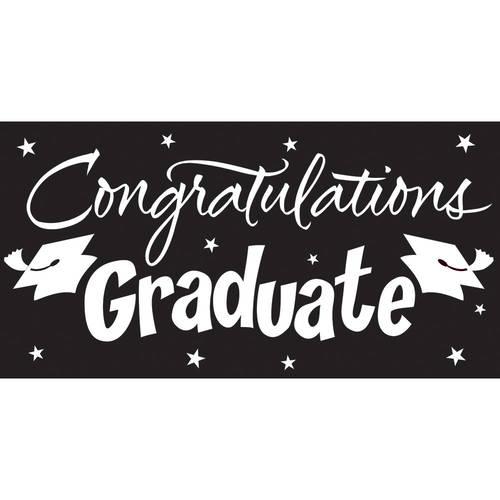 Gigantic Greetings, Congrats Grad, Black