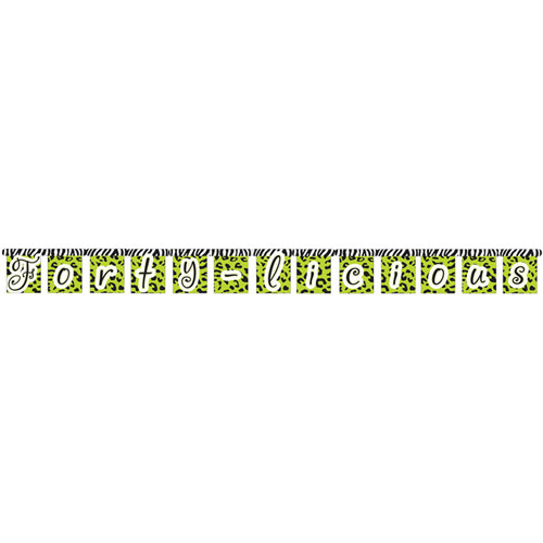 Forty-Licious Jointed Banner, Large