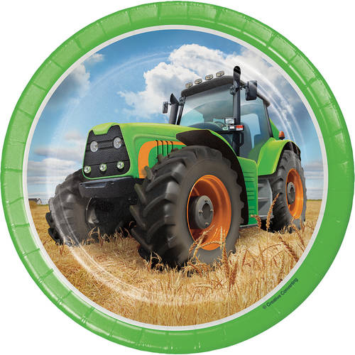 Tractor Time Paper Dessert Plates (8 ct)