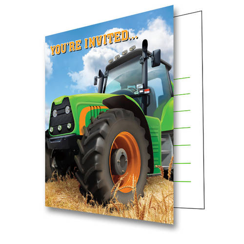 Tractor Time Invitations (8 ct)