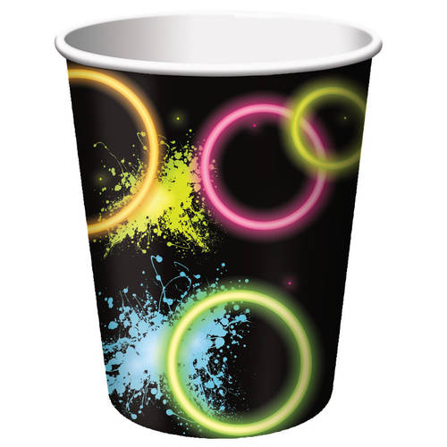Glow Party 9oz Paper Cups (8ct)