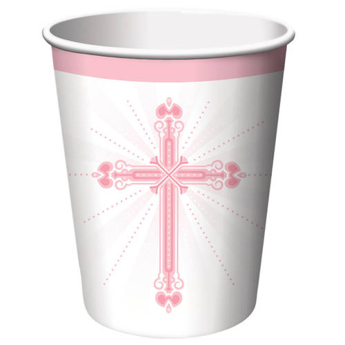 Blessings Pink 9oz Paper Cups (18 ct)