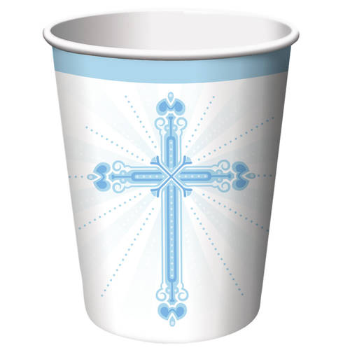 Blessings Blue 9oz Paper Cups (18ct)