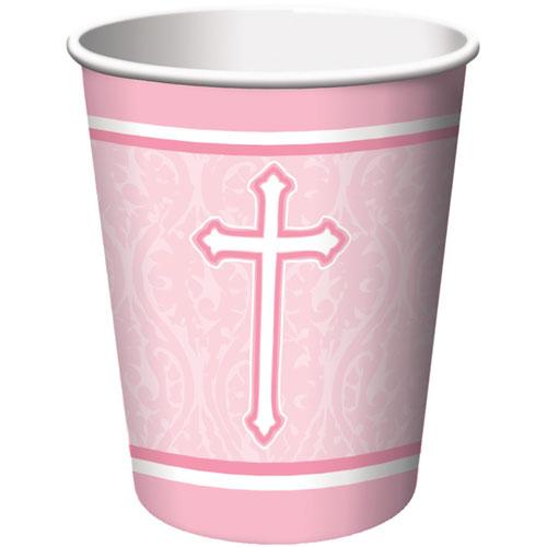 Faith Pink 9oz Cups (8ct)