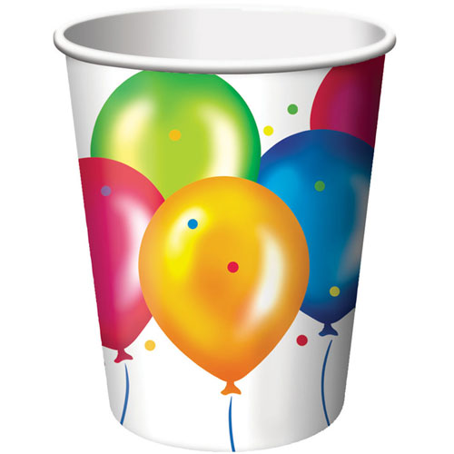 Birthday Balloons 9oz Cups (8ct)