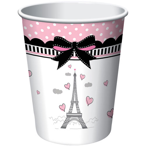 Party in Paris 9oz Paper Cups (8ct)