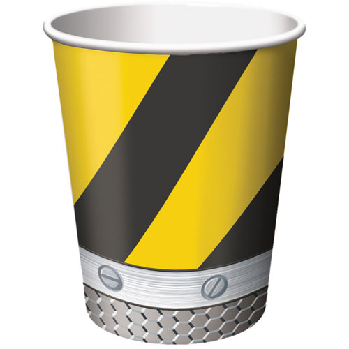 Construction Birthday Zone 9oz Cups (8ct)