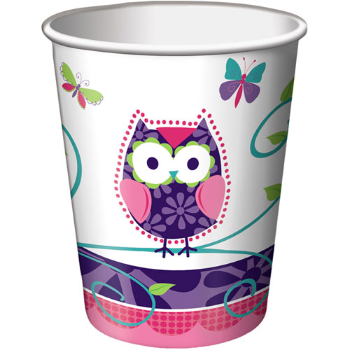 Owl Pal Birthday 9oz Cups (8ct)