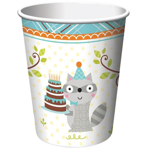 Happi Woodland Boy 9oz Cups (8ct)