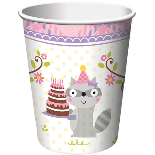 Happi Woodland Girl 9oz Cups (8ct)