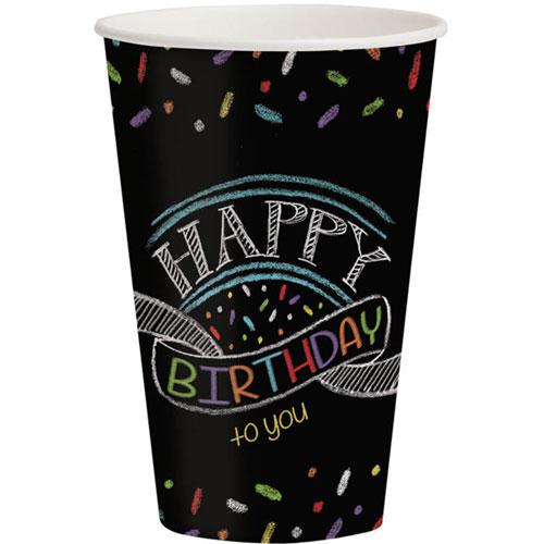 Chalk Birthday 12oz Cups (8ct)