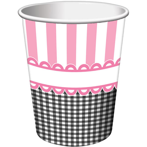 Pink Sweet Baby Feet 9oz Cups (8ct)