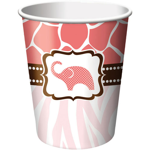 Wild Safari Pink 9oz Cups (8ct)