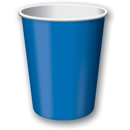 True Blue 9oz Paper Cups