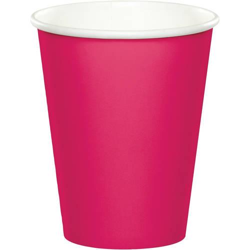 Hot Magenta 9oz Paper Cups