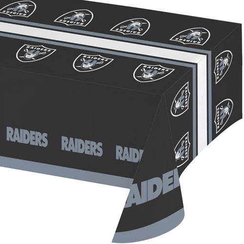 Oakland Raiders Plastic Tablecover