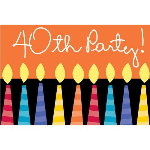 Great Birthday  Invites (8 per