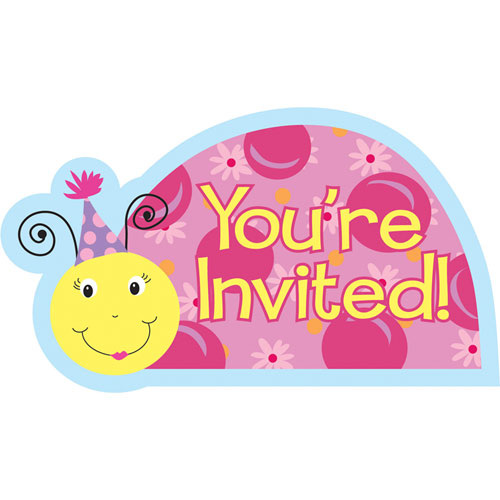 Lil' Lady  Invites (8 per pack