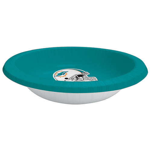Miami Dolphins 20oz Paper Bowls (8ct)