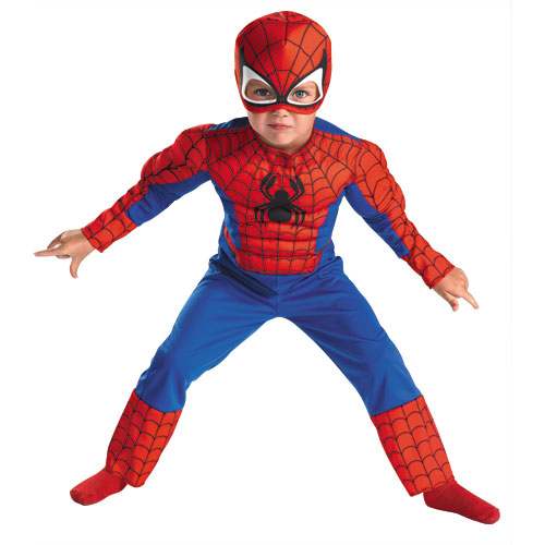 Spider-Man Muscle Costume Toddler 3T-4T