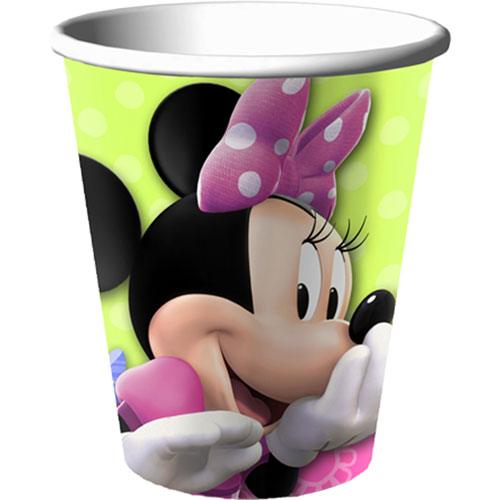 Minnie Bows 9 oz Cups