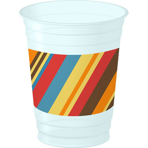 Striped Cake 14oz Cups (8ct)