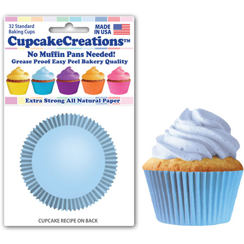 Solid Light Blue Standard Baking Cups