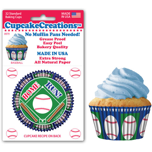 Baseball Standard Baking Cups