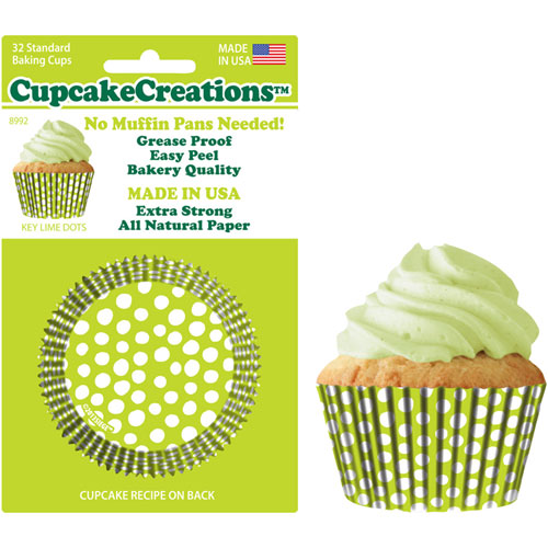 Lime Dots Standard Baking Cups