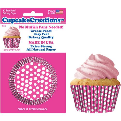 Hot Pink Dots Standard Baking Cups