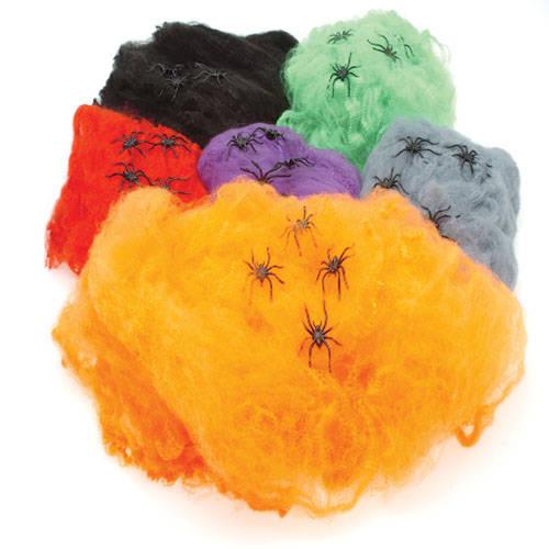 JUMBO NEON SPIDER WEBS
